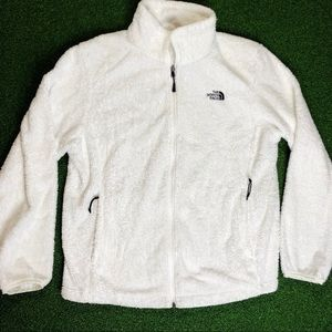 The North Face Oso Women's White Zip Up Jacket